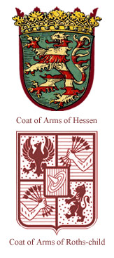 Comparison of both coat of arms.