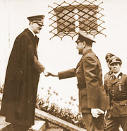 Hitler shaking hands with Ante Pavelic