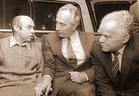 PM Peres and Foreign Minister Shamir, Natan Sharansky, 11.2.1986.