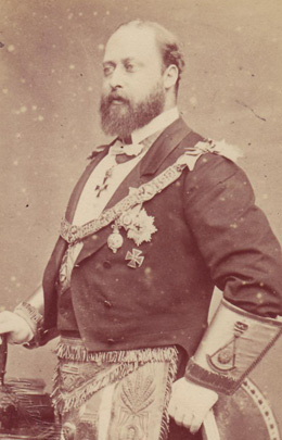 Edward VII in Masonic Regalia