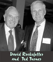 David Rockefeller and Ted Turner