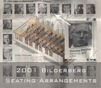 2001 Bilderberg Seating Arrangements