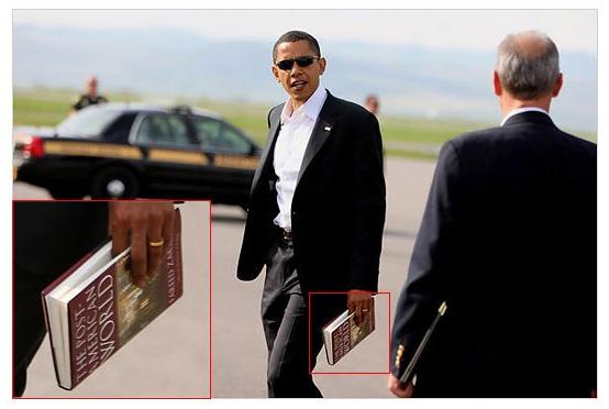 Obama reading The Post-American World by communitarian Fareed Zakaria