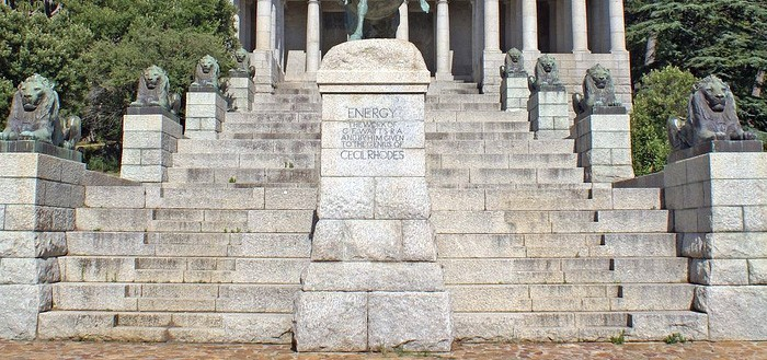 Rhodes Memorial, Cape Town, South Africa, modeled after the Greek Temple at Segesta""