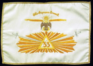 33rd Degree Flag carried by Cooper. Click for full size.