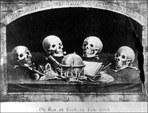 German postcard included in a Skull and Bones photograph album originally owned by Chester Wolcott Lyman, BA 1882.