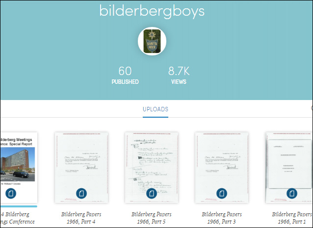 Figure 2 Scribd Site For Bilderberg Meeting Reports