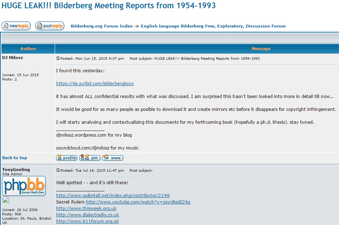 Figure 3 The Bilderberg Papers at Scribd Cited on the Bilderberg.org Forum in 2015