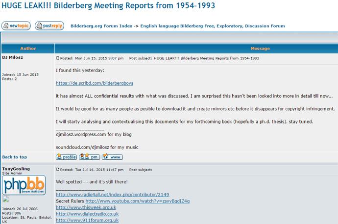 Figure 3 The Bilderberg Papers at Scribd Cited on the Bilderberg.org Forum in 2015